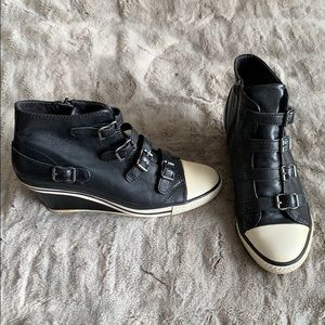 Ash Limited Leather Wedge Sneaker